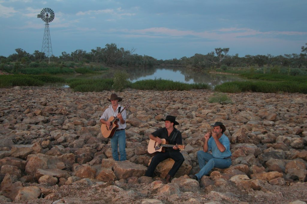 Friends In No Places Band on Location in Longreach Queensland