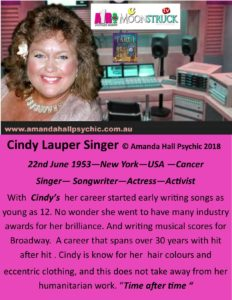 Cindy Lauper Famous female Cancer